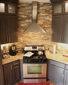 Stone Kitchen Backsplash Ideas Kitchen Stone Backsplash Ideas With Dark Cabinets