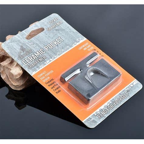 Pisau Gerber gerber mini portable knife sharpener pengasah pisau black jakartanotebook