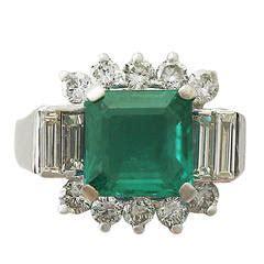 Muzo Emerald 2 48 Carat 2 22 carat unenhanced muzo emerald cluster
