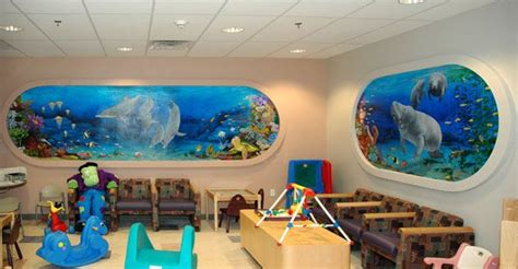 childrens wall mural fish wall mural finished room baby room wall murals www wallmuralsgallery com600