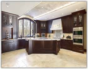 Kitchen Floor Cabinet Kitchen Floor Tile Dark Cabinets Home Design Ideas