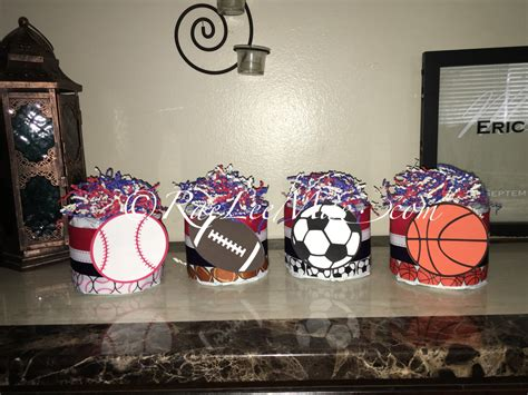 Baby Shower Sports Centerpieces by 4 Sports Cake Minis Sports Baby Shower Centerpieces Or