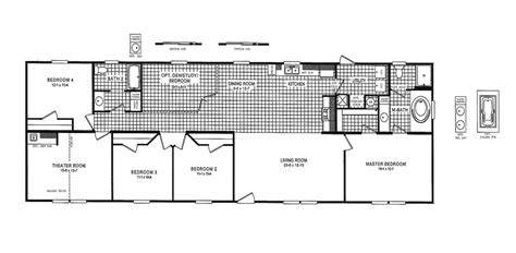18 X 80 Mobile Home Floor Plans | 18 x 80 mobile home floor plans myideasbedroom com