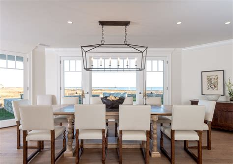 Beadboard On Kitchen Cabinets Beach House Chandeliers Dining Room Beach With