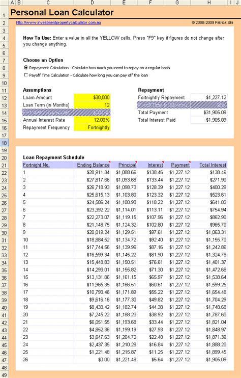 excel loan calculator formula knighthacks club