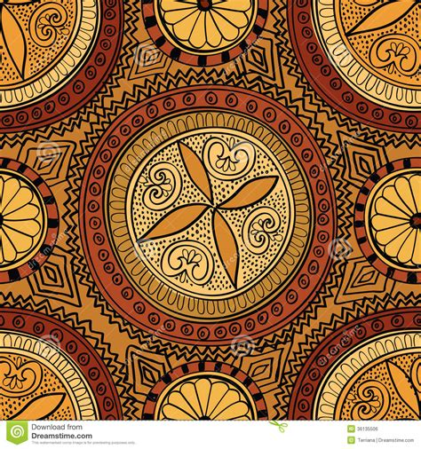 Brocade Home Decor by Abstract Ethnic Seamless Background Floral Line Texture
