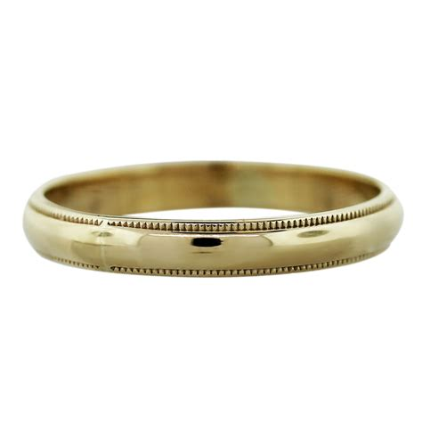14k Gold Wedding Band by 14k Yellow Gold 1 6dwt Mens Wedding Band Ring Boca Raton
