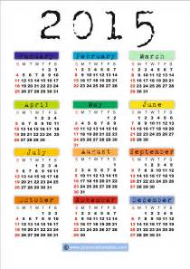 2015 Printable Calendar Template by 2015 Calendar Printable Free Large Images