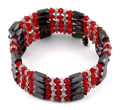 "32"" Magnetic Hematite Red Crystal Wrap Bracelet/Necklace"