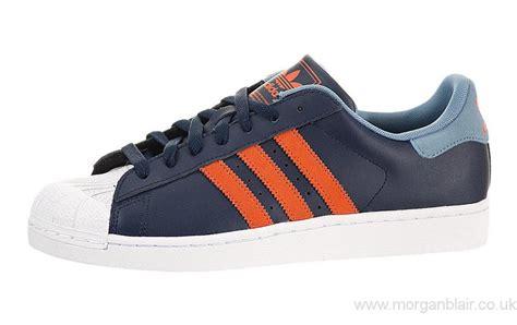 Sepatu Adidas Superstar White Blue 36 40 2014 adidas superstar ii cool navy power blue orange white shoes uk g99860