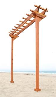 Build A Patio Swing Two Post Arbors Forever Redwood