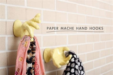 How To Make Paper Mache Wall - diy projects wall hooks pretty designs