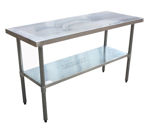 stainless steel kitchen bench foxhunter stainless steel commercial catering table work