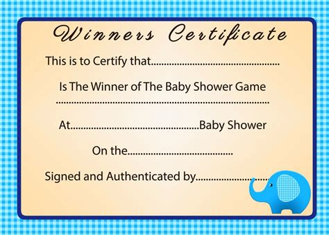 First Place Certificate Template Professional And High Quality Templates Baby Shower Gift Certificate Template