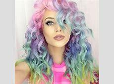 Wavy Rainbow Hair Pictures, Photos, and Images for ... Rainbow Hair Tumblr