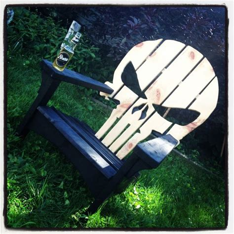 Skull Adirondack Chair Plans by Punisher Adirondack Chair Adirondack Chairs We Made