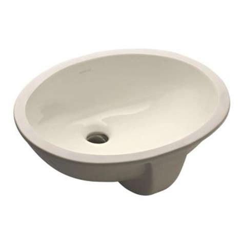 Kohler 2209 Sink kohler caxton undermount bathroom sink in biscuit k 2209 96 the home depot