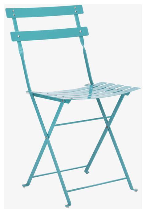 outdoor metal folding chairs parc sea blue metal folding garden chair habitatuk
