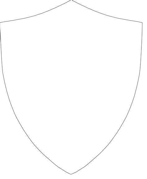 shield outline template printable template for knights crest shield