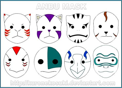 anbu mask by kuronekosuki on deviantart