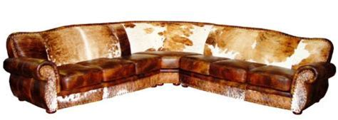 cowhide leather sectional sofa rustic cowhide sectional leather sectional