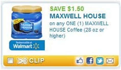maxwell house coffee coupons printable manufacturer grocery coupons 2012 savings lifestyle