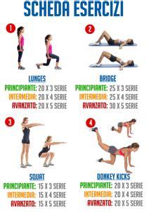 dimagrire il sedere scheda esercizi dimagrire il sedere workout italia