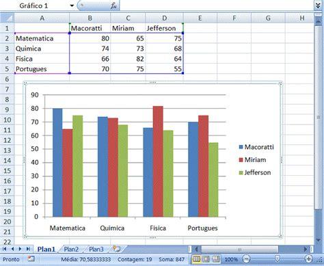 tutorial excel graficos 2007 c criando um grafico no excel