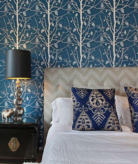 wallpaper designs bedroom homepeek 25 stunning blue bedroom ideas