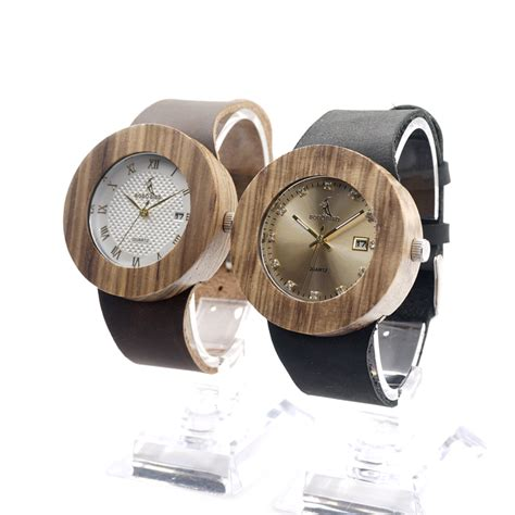Bobo Bird A22 Bamboo Wood Quartz With Logo Pointer In Gift Box bobo bird vintage s design brand luxury gold wooden bamboo watches with leather