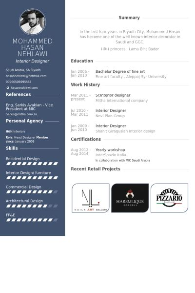 interior design cv template download interior designer resume sles visualcv resume sles