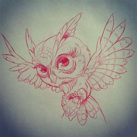 owl tattoo outline flying owl outline