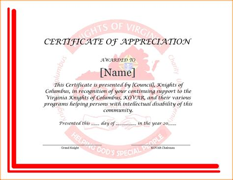 appreciation letter certificate certificate of appreciation slesreference letters words