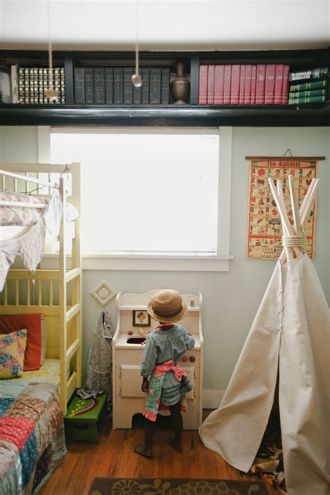 bed bedroom overhead storage at home with kristin rogers a beautiful mess