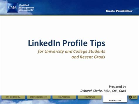 Linkedin Headline Tips For Recent Mba by Linkedin Profile Tips For College Students And