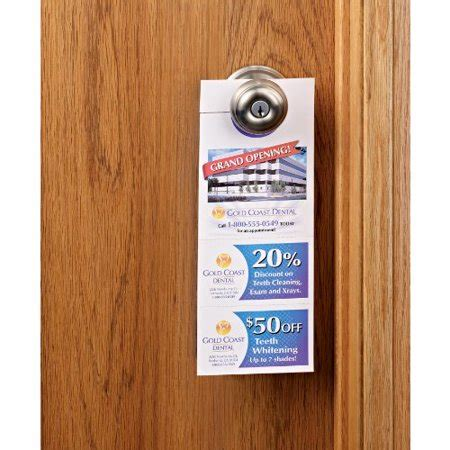 avery free templates door hanger with tear away cards avery door hanger with tear away cards matte white 4 25