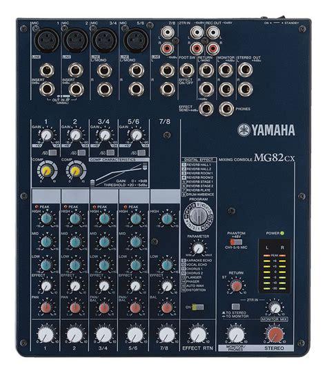 Second Mixer Yamaha Mg82cx Consola De 8 Canales Con Efectos Yamaha Mg82cx Casa Musical