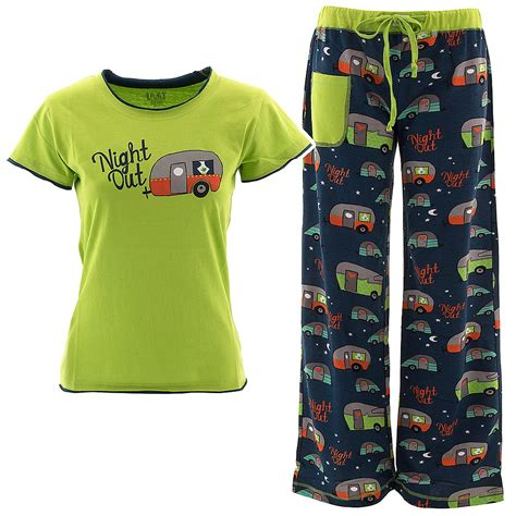 lazy one green out pajama set for juniors