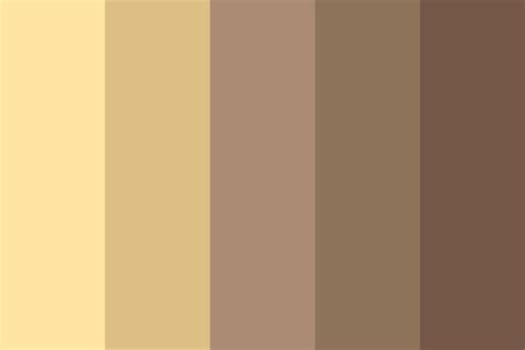 chocolate vanilla color palette