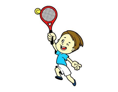 imagenes de niños jugando tenis para colorear dibujo de ni 241 o jugando a tenis pintado por en dibujos net