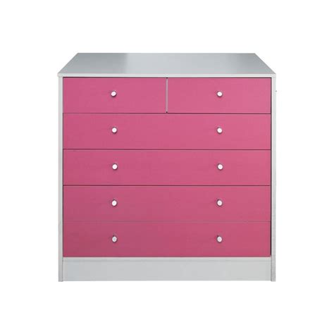 buy home new malibu 4 2 drawer chest pink on white