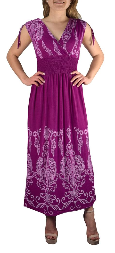 tahiti multicolor border print maxi dress paisley