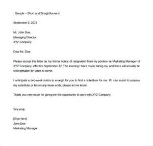 Forwarding Resignation Letter To Hr Two Weeks Notice Letter 31 Free Word Pdf Documents Free Premium Templates