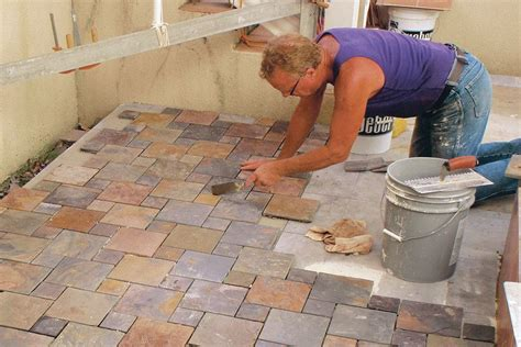 prepping  outdoor patio tile installation jlc