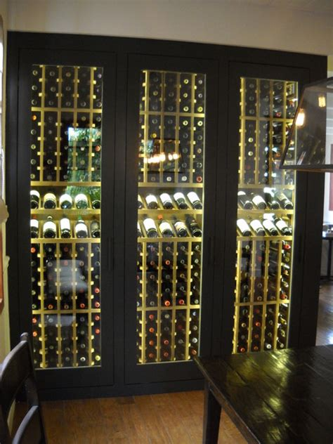 Decorative Glass Kitchen Cabinets wine cabinet display led lighting traditional dining