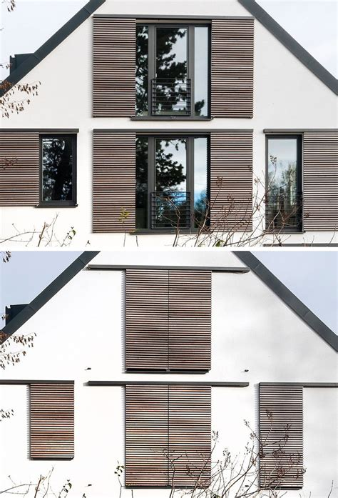 this house is an exle of how to do modern window shutters contemporist