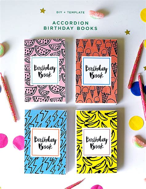 Osbournes Book Strippers For Birthday Bash 2 by Accordion Birthday Books Diy Template
