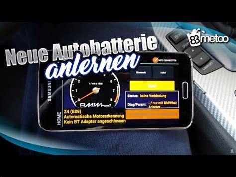 Bmw 1er Batterie Codieren bmw neue batterie anlernen bmw batterie codieren mit