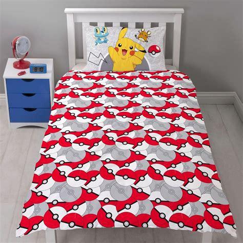 pikachu bed set pokemon go duvet cover catch single panel pikachu bedding
