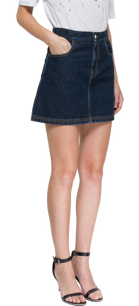 givenchy mini denim skirt in blue lyst